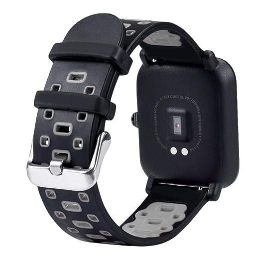 MYQyiyi Suave Correa de Silicona de Reloj para Xiaomi Huami Amazfit Bip Youth Watch: Amazon.es: Relojes