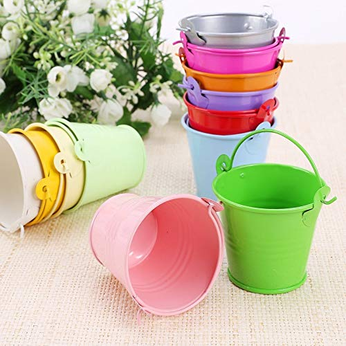 | Flower Pots & Planters | 12pcs Colorful Mini Metal Bucket Candy Favours Box Pail Wedding Party Gifts -15 | by GADEMATA ()