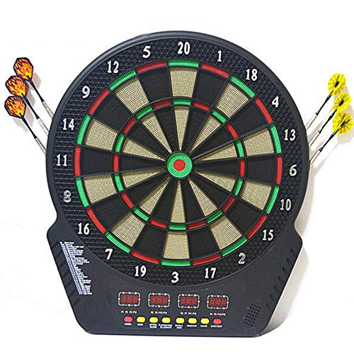 MSQL Electronic Dartboard, Easy to Use Button Interface, Automatic Voice Feedback, 4 LED Displays, 4 Player Multiplayer on a Single Device, 27 Games, 243 Options (Neptune Electronic Dartboard)