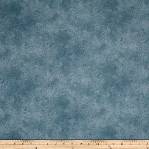 Suede Mid Tones Ecru/Blue Fabric by The Yard - P & B Textiles 0564590