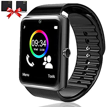 OumuEle Bluetooth Smart Watch-SmartWatch for Android Phones with SIM Card Slot Camera, Fitness Watch with Sleep Monitor Pedometer Watch for Men Women ...