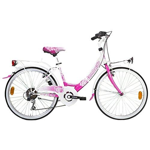 Lombardo Rimini City Bike, 24 inch Wheels, Women's Bike, Whi