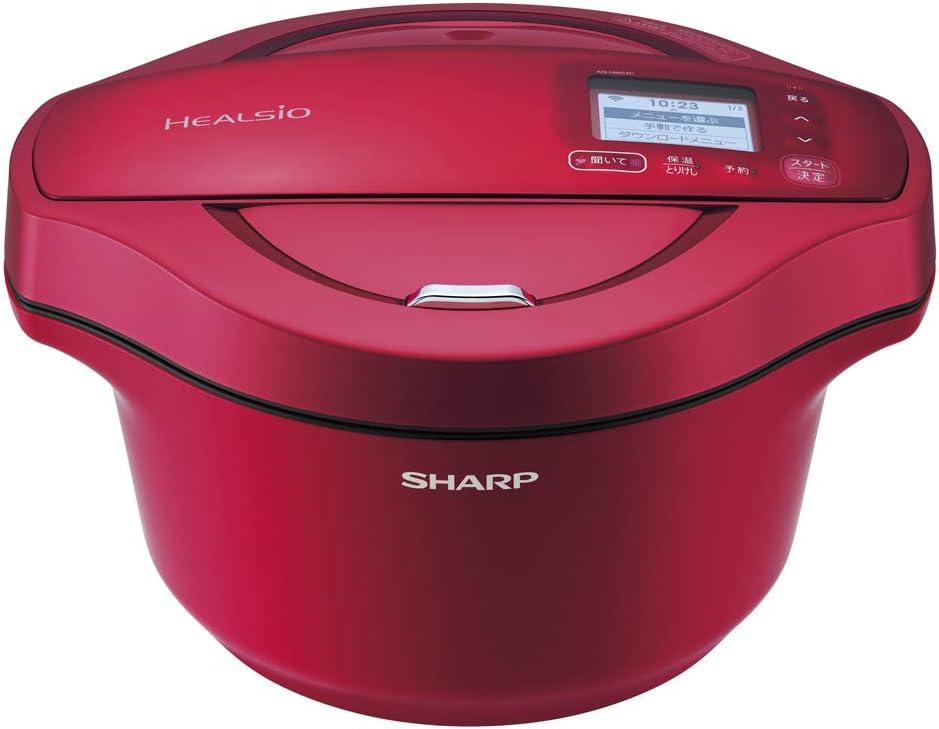 シャープ 自動調理無水鍋 ヘルシオ 赤色 Amazon