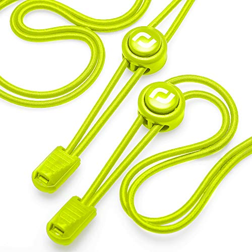 No Tie Shoelaces - Easy To Install Elastic Shoe Laces for Kids and Adults - Yellow