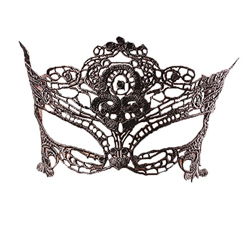 Vilania Mysterious Half Face Sexy Lingerie Mask Charming Lace Halloween Accessories for Women For Sex