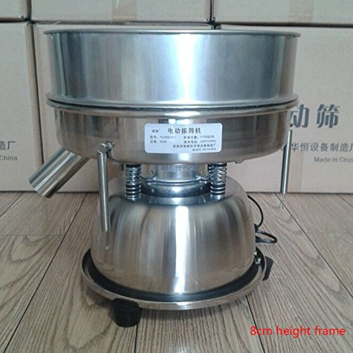 Electric Chinese Medicine Sieve Stainless Steel Powder Vibrating Sieve Machine (110V USA plug) by JYNselling (Image #3)