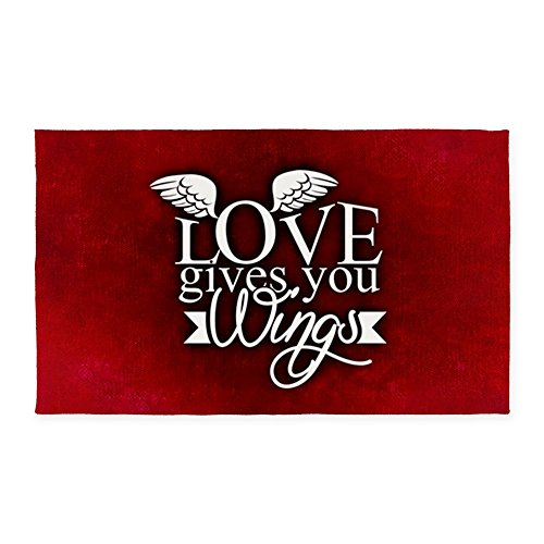 2' x 3' Area Rug Door Mat Love Gives You Wings by Truly Teague