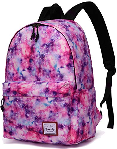 Backpacks for Girls,VASCHY Cute Lightweight Casual Water-Resistant School Daypack 14in Padded Sleeve in Pink - Cute Girls With