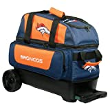 KR Strikeforce Denver Broncos Double Roller Bowling Bag, Multicolor