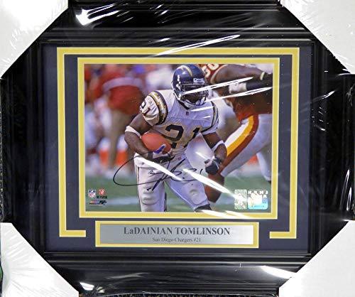 Signed LaDainian Tomlinson Photo - Framed 8x10 LT Holo Stock #108009 - Autographed NFL Photos