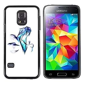 LECELL -- Funda protectora / Cubierta / Piel For Samsung Galaxy S5 Mini, SM-G800, NOT S5 REGULAR! -- Raptor Airbrush --