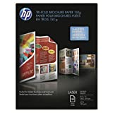 HP - Tri-Fold Laser Brochure Paper, 97 Brightness, 40lb, 8-1/2 x 11, White, 150 /Pack - Sold As 1 Pack - Rival commercial print quality, without leaving the office.