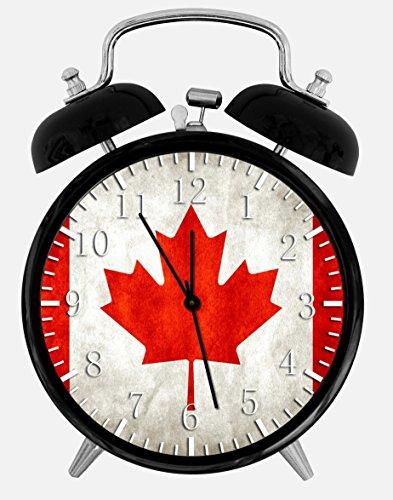 Flag Of Canada Alarm Desk Clock 3.75