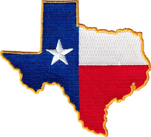 Texas Flag State Cut Out - Embroidered Iron On or Sew On Patch Texas Irons Star