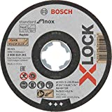 Bosch Professional 2608619266 Pack of 10 Straight Cutting Disc Standard (for INOX, X-Lock, Diameter 115 mm, Bore Diameter 22.23 mm, Thickness 1 mm)