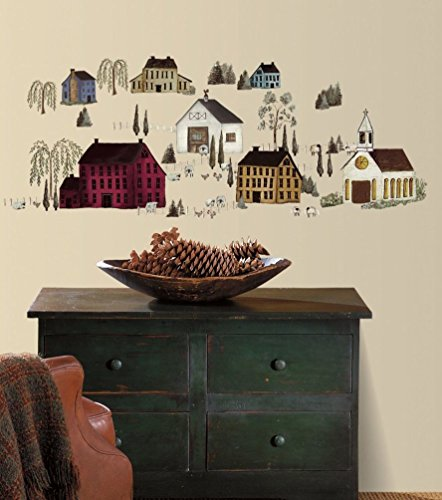 Lunarland Primitive Wall Stickers Country Houses Decals Decor NEW Country Home Flower