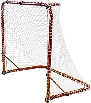 Park & Sun Sports Street Ice Hockey Goal with Folding Steel Frame and Nylon Bungee Slip