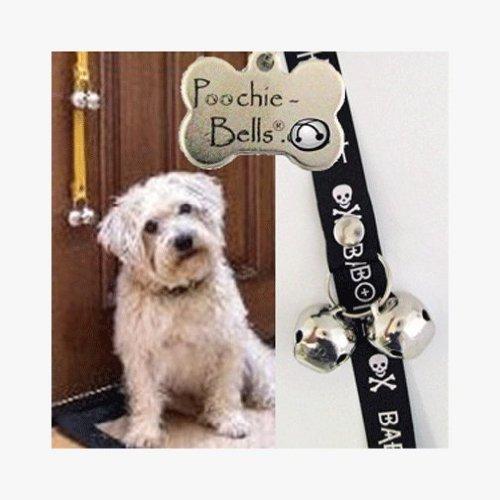 PoochieBells Housetraining Dog Doorbell,Bad to The Bone Wording Design by PoochieBells
