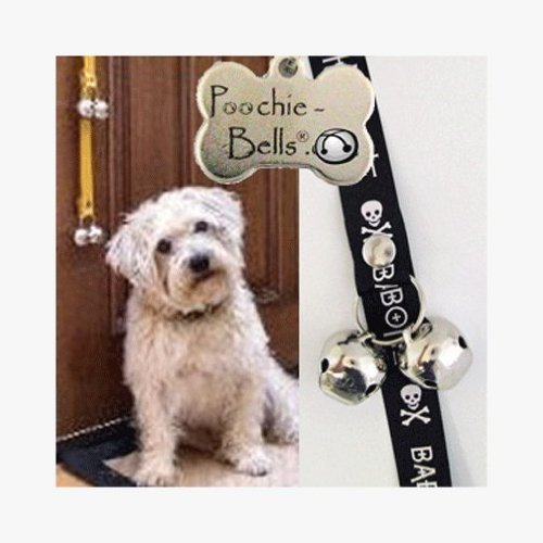 PoochieBells Housetraining Dog Doorbell,Bad to the Bone Wording Design