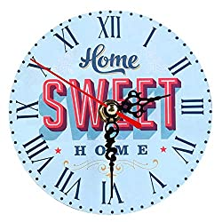 Wall Clocks - Vintage Wooden Wall Clock Large Shabby Chic Rustic Home Antique European Style Mordern Design - Atomic Patio Parts Cool Huge Harry Vision Grey Neon Indian