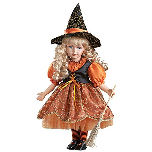 Porcelain Doll Costume Halloween (Halloween Wendy Witch Costume Collectible Porcelain Doll)