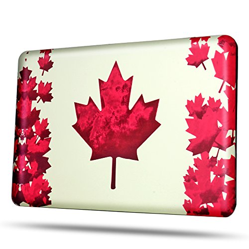 TNP MacBook Air 13 Case [Maple Leaf Pattern] - Soft-Touch Plastic Matte Hard Shell Protective Case Cover Skin for Apple MacBook Air 13 Inch A1466 A1369