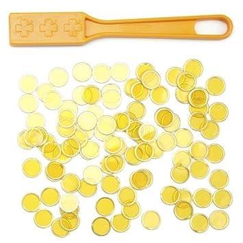 Bry Belly GBIN-504 Yellow Magnetic Bingo Wand with 100 Metallic Bingo Chips