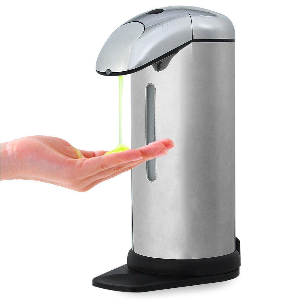 実用ソープディスペンサー *自動ソープディスペンサー400ミリリットルステンレス鋼irセンサータッチレス自動液体ソープディスペンサー用キッチン浴室ホーム B07SR3M54Y