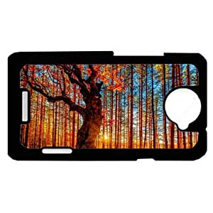 Scenic Forest Fall Autumn Trees HTC One X PLASTIC cell phone Case / Cover Great Gift Idea