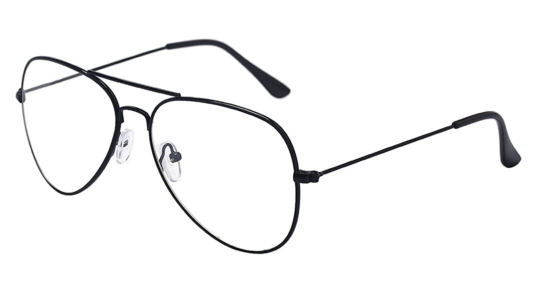 0f1ef3c2d86 ALWAYSUV Metal Frame Clear Lens Classic Glasses Eyeglasses  Amazon.co.uk   Clothing