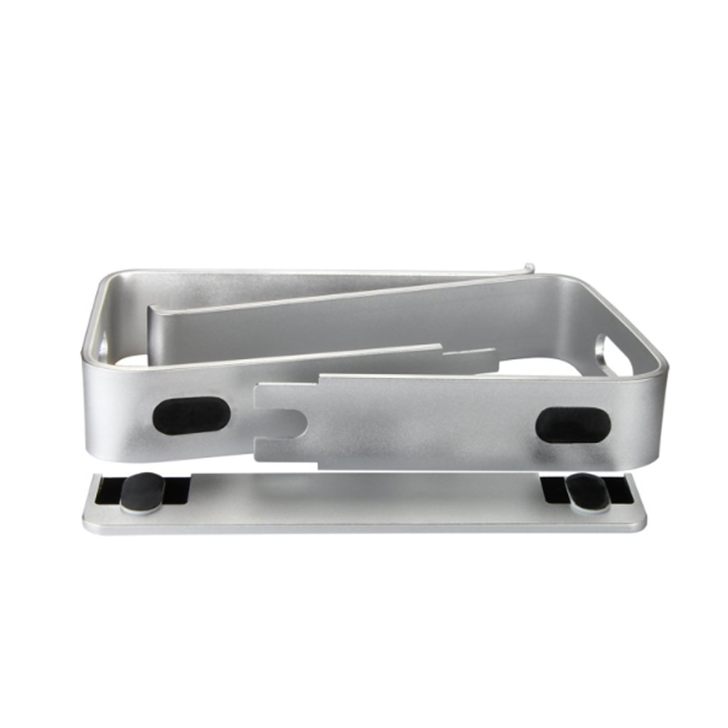 XY Soap dish Laptop Stand, Raised Rack Cooling Aluminum Alloy Computer Stand, Increased Desktop Stand Cervical, Aluminum Alloy Computer Stand, Silver Laptop Stand, 26 Cm 22.5 Cm 14.5 Cm by XY Soap dish (Image #6)