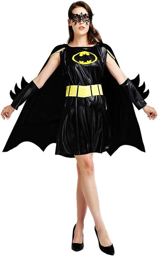 Sttsale Vestidos de Halloween, Disfraz de Guerrero de Batman Negro ...