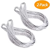 Senkary Metallic Silver Cord String Non Stretch Thread for Jewelry Craft Making, Hang Tags, 200 Meters/ 218 Yards, 1 mm