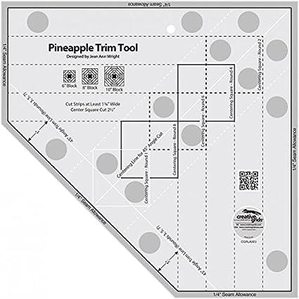 Ruler Template | Amazon Com Creative Grids Standard Pineapple Trim Tool Quilting