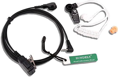 SUNDELY Covert Acoustic Tube Headset Earpiece For Garmin Rino GPS Two Way Radio Walkie Talkie Combo