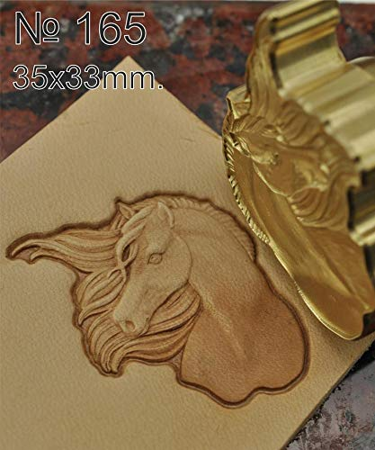 Leather Stamp Tool Horse Working Carving Punches Tools Craft Saddle Brass #165 by DandS ltd (Image #1)