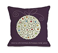 One Bella Casa Large Ball Ornament Throw Pillow by OBC, 26