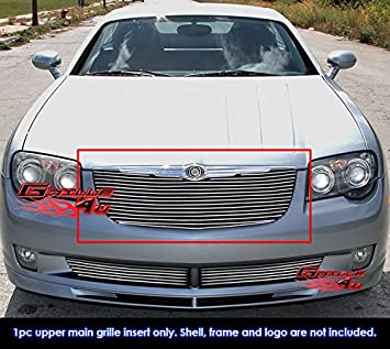 APS Compatible with 2003-2008 Nissan Murano Black Main Upper Billet Grille Grill Insert N86485H