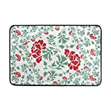 Top Carpenter Floral Decorative Design Rug Pad - 23.6x15.7 inch - 100% Light Weight Polyester Fabric for Living - Bedroom Bathroom