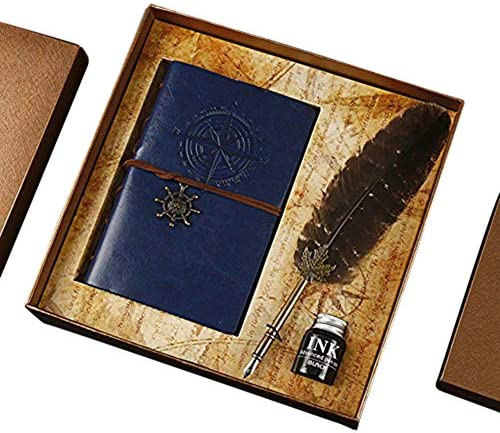 Feather GloDeals Calligraphy Antique Notebook product image