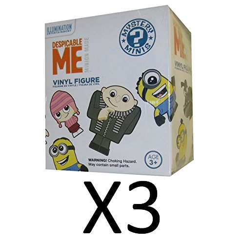 Dispicable Me Disney (FUNKO Despicable Me - Mystery Minis Vinyl Figure (choices may vary) Blind Pack - 3 Pack (Three Mystery Boxes included per order))