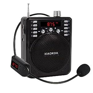 xiaokoa bluetooth voice amplifier with wireless headset microphone bluetooth speaker. Black Bedroom Furniture Sets. Home Design Ideas