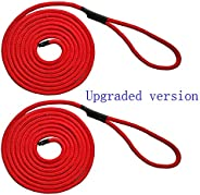 Efficiently 2PC 15FT 10.5MM Marine Boat Fender Dock Line Double Braid Anchor Mooring Rope Seamlessly