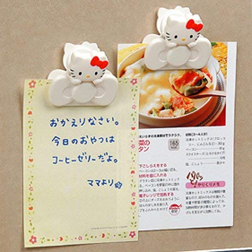 Hello Kitty Magnet Clip(2p) Refrigerator Fridge Paper Magnetic Clasp Holder Memo (Hello Magnet Kitty)