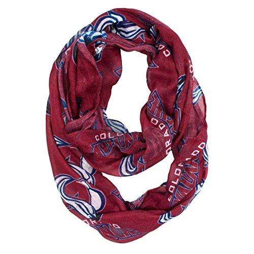 NHL Colorado Avalanche Sheer Infinity Scarf, One Size, Red