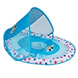 SwimWays Inflatable Infant Baby Swimming Pool Float w/Canopy, Mickey Mouse (2 Pack)