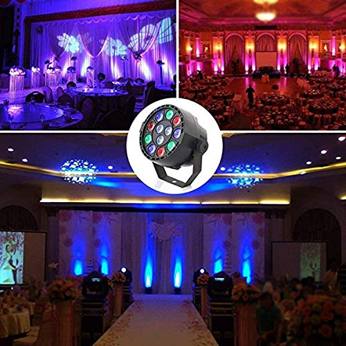 YAMADIE 12 Led PA Lights Stage Lights DMX Spotlights Full Color Stained Background Lights Halloween Christmas Disco KTV Wedding Mixed Lights RGBW Effect 1297cm -