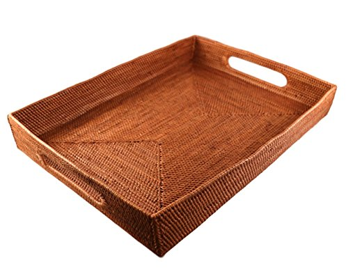 Rattan Serving Trays (Large) 18 inch x 14 inch