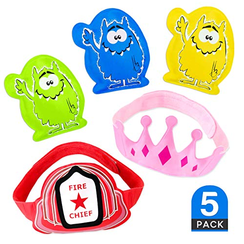 5 x Childrens Ice Packs for instant pain relief - Boo Boo Buddy for Kids, Toddlers & Babies. Cold Compress for Bumps, Bruises, Knocks and Ouchies! The Best Reusable Child Ice Pack for Injuries, (by