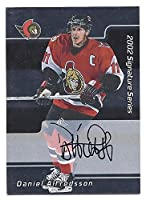 DANIEL ALFREDSSON 2001-02 Be A Player BAP Signature Series #191 AUTOGRAPH Card Ottawa Senators Hockey